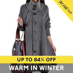 Fashion coat, up to 84% off
