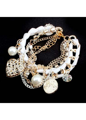 Hot Sale Faux Pearl Decorated Woman Bracelet for Club