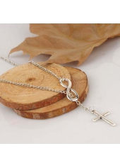 wholesale Charming Silver Thin Chain Woman Necklace with Cross Decoration