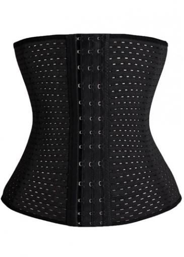 Strapless Plus Size Solid Black Corset