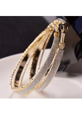 wholesale Gold Metal Circle Earrings for Woman