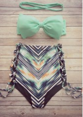 Padded High Waist Two Piece Swimsuit