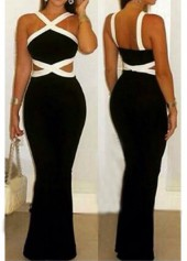 Sleeveless White and Black Boot cut Jumpsuits