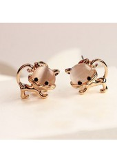 wholesale Stone Decorated Cat Shape Desgin Earrings