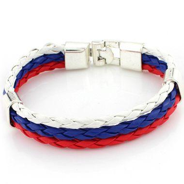 Multi Color Three Layers Braided Bracelet