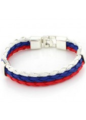 wholesale Multi Color Three Layers Braided Bracelet
