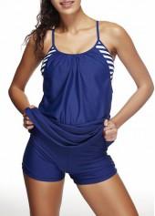 wholesale Round Neck Swimdress and Navy Blue Shorts