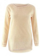 Round Neck Long Sleeve Asymmetric Sweater