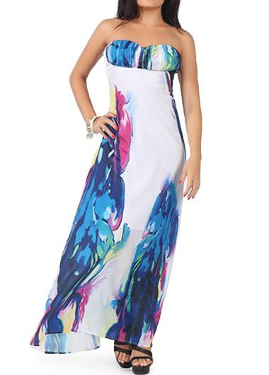 Open Back Sleeveless Chiffon Maxi Dress