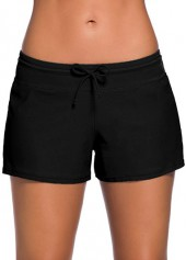 Solid Black Charmleaks Woman Board Swimwear Shorts