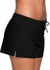 wholesale Solid Black Charmleaks Woman Board Swimwear Shorts