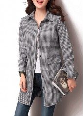 Plaid Print Button Closure Long Sleeve Shirt