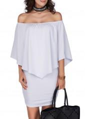 Ruffle Overlay Open Back White Dress