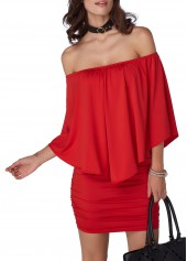 Three Quarter Sleeve Off the Shoulder Dress