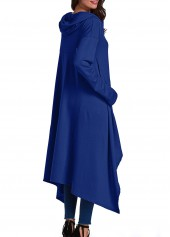 wholesale Pocket Design Navy Blue Pullover Hoodie
