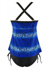wholesale Printed Cross Back Top and Tie Side Panty