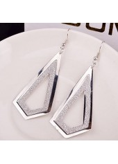 wholesale Geometry Shape Frosted Silver Metal Earrings for Woman