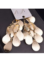 wholesale Gold Metal Fish Scale Embellished Pendant Earrings