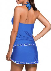 wholesale Royal Blue Open Back Top and Pantskirt