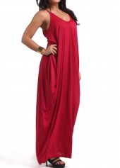 wholesale Open Back Pocket Decorated Maxi Dress
