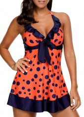 wholesale Halter Neck Padded Printed Swimdress and Shorts