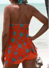 wholesale Halter Asymmetric Hem Padded Printed Tankini Set