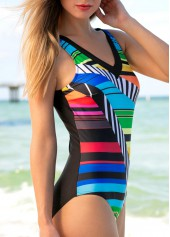 wholesale Printed Padded Open Back One Piece Swimwear