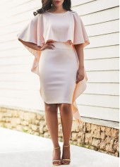 Round Neck Half Sleeve Sheath Dress