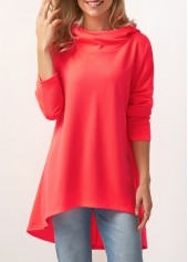 Watermelon Red Long Sleeve Pullover Hoodie