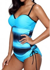 wholesale Padded Drawstring Side Criss Cross Tankini Set