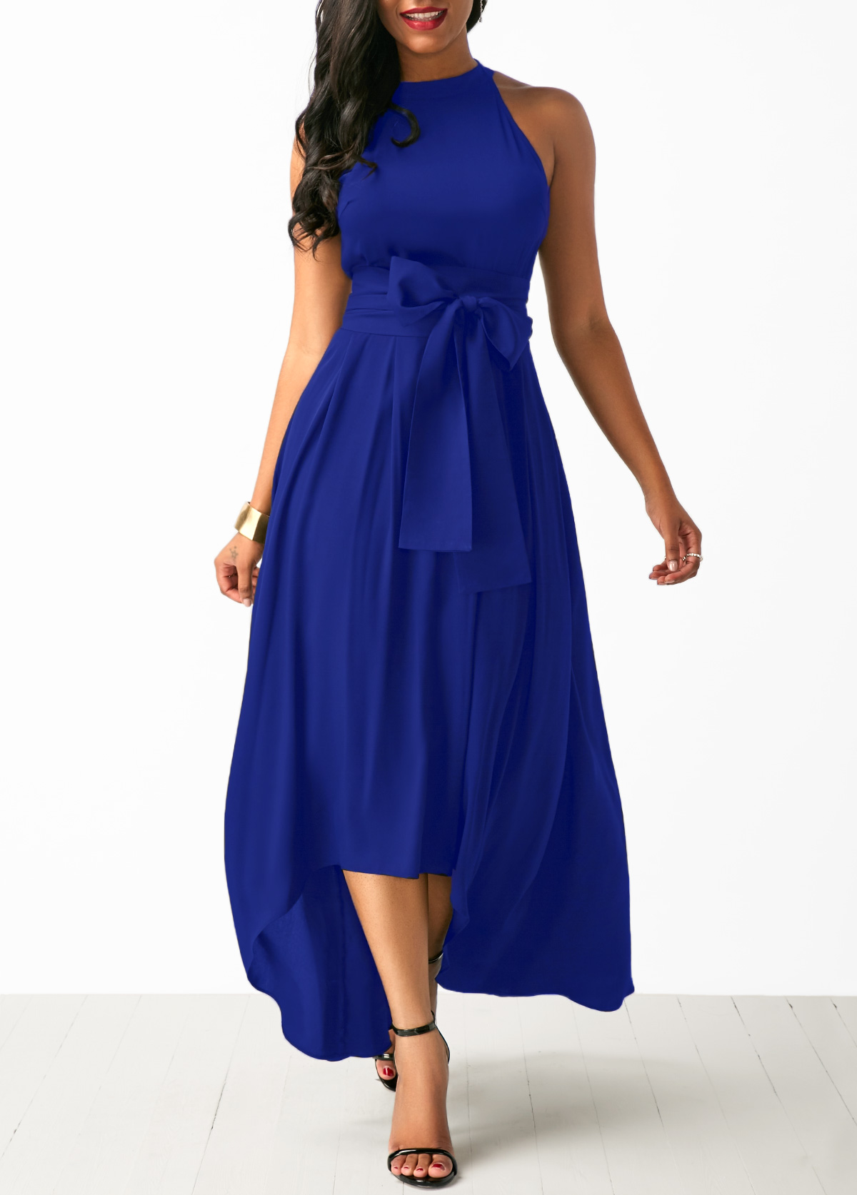 Belted Asymmetric Hem Maxi Cardigan and Dress