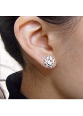 wholesale Sunflower Pattern Rhinstone Ear Stud for Woman