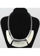 Solid Silver Metal Necklace for Party