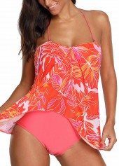 Printed Halter Neck One Piece Swimwear