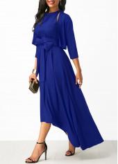 wholesale Belted Asymmetric Hem Maxi Dress and Cardigan
