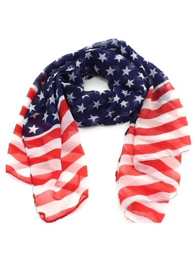 American Flag Print Women Navy Scarf on sale only US$5.88 now buy fashion American Flag Print Women Navy Scarf at Rosewe.com.