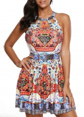 wholesale Printed Cutout Front H Back Swimdress and Shorts