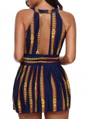 wholesale Printed H Back One Piece Swimdress