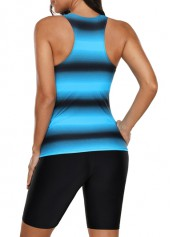 wholesale Lace Up Front Round Neck Tankini Top and Shorts