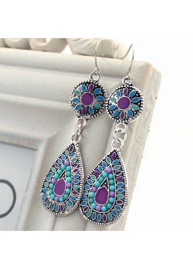Bead Embellished Drop Shape Dangle Earrings