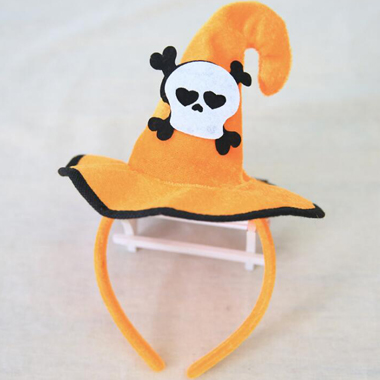 Halloween Bones Pirate and Witch Hat Design Hair Band