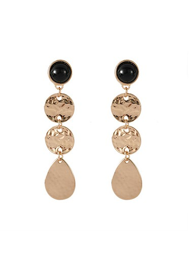 Mother's Day Gifts Circlet Drop Metal Earrings for Women - One Size