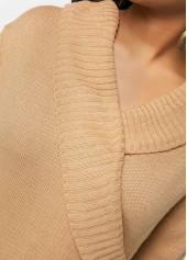 wholesale Khaki Lace Up Detail V Neck Sweater 946d8114f