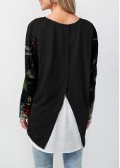 wholesale Asymmetric Hem Long Sleeve Christmas T Shirt