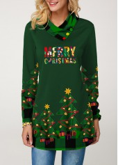 wholesale Christmas Button Detail Plaid Print T Shirt