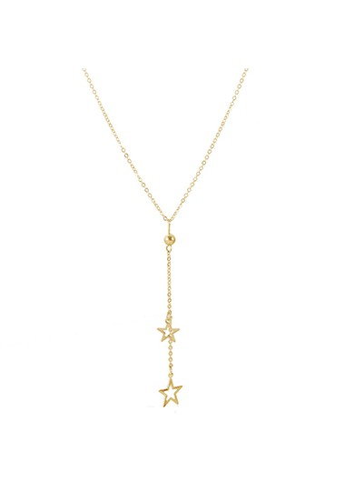 Star Pendant Metal Necklace for Women
