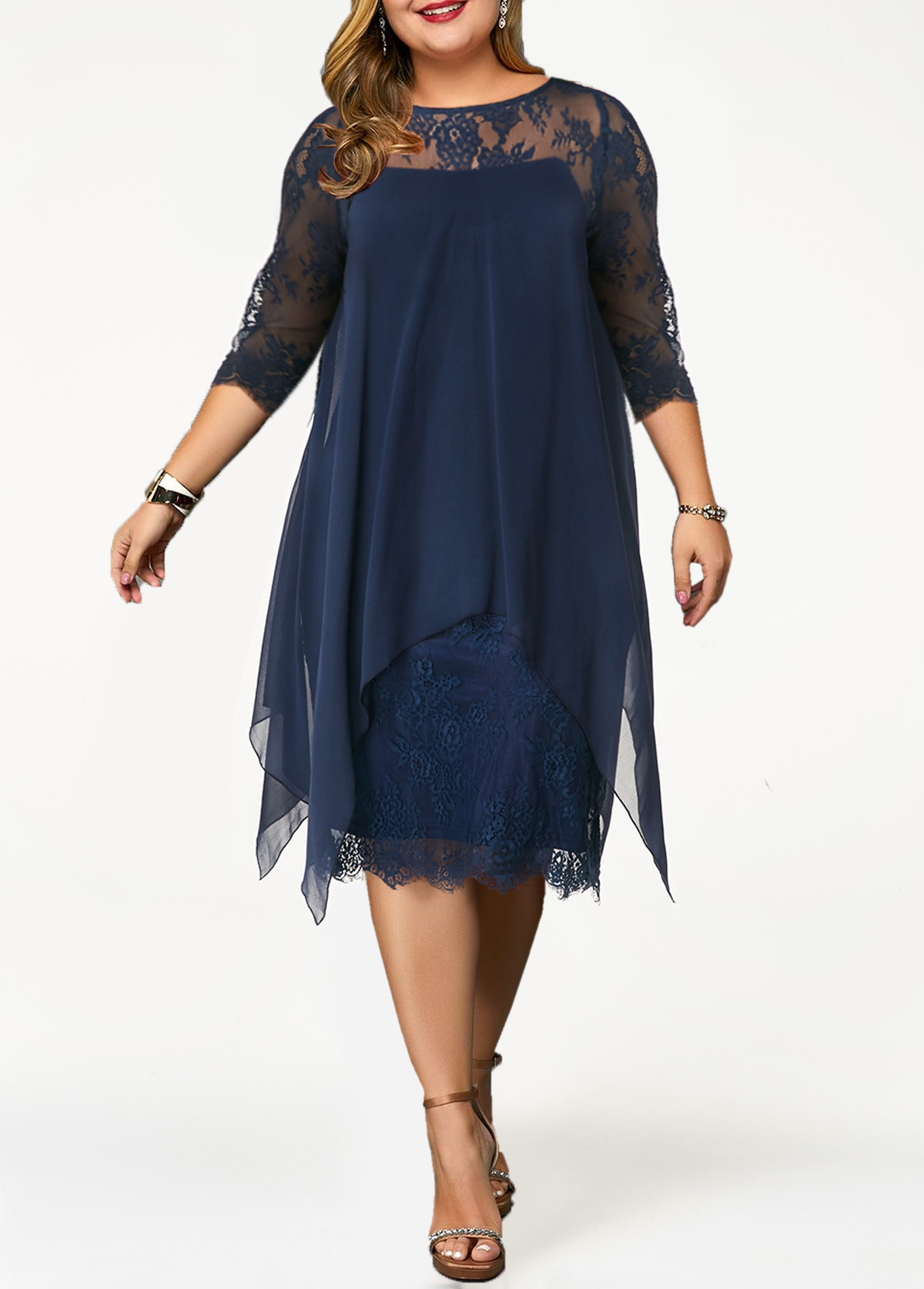 Plus size cocktail dresses denim