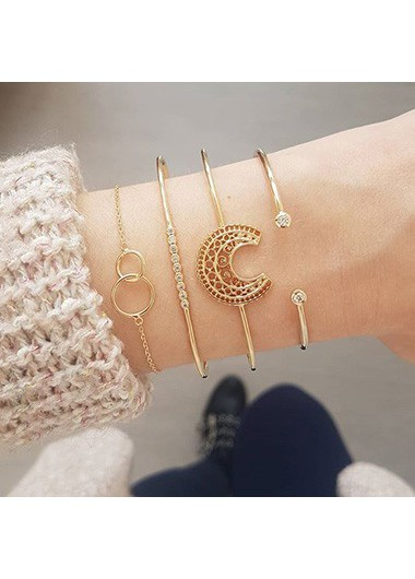 Crescent_Shape_Gold_Metal_Bangle_Set_for_Women__One_Size