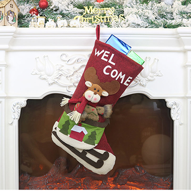 Red Christmas Design Socks for Decoration