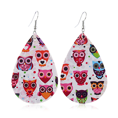 Animal Print Multi Color Plastic Earring Set